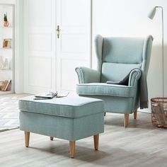 STRANDMON Wing Chair, Skiftebo Light Turquoise | Light Turquoise, Turquoise  And Lights