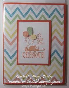Tag It Ronald McDonald stamp set with Watercolor Wonder designer series paper.  By Peggy Tassler