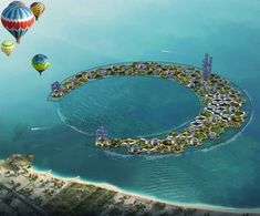 The Dream of Building Floating Cities is Dragged Down by Reality - Atlas Obscura Futuristic City, Futuristic Architecture, Futuristic Vehicles, Floating House, Floating Cities, Floating Architecture, Architecture Concept Drawings, Environment Concept Art, Future City