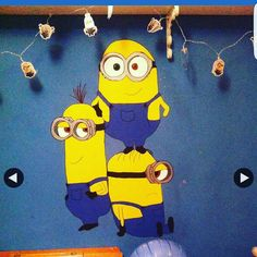 Just done this one my little lads bedroom wall and he loves it ... #minion #minions #minionsmovie #minionmad #minionmania #art #wallart #handpainted #painted #handdrawn #sketchbook #bedroom  by saxonparton