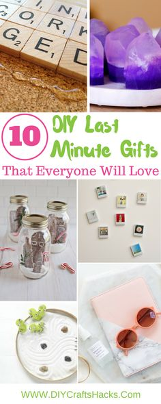 10 DIY Last Minute Gifts That Everyone Will Love gift guides, christmas gifts, present ideas. Handmade Christmas Gifts, Christmas Gifts For Kids, Holiday Gifts, Christmas Time, Love Gifts, Diy Gifts, Christmas On A Budget, Perfect Gift For Him, Pinterest Diy