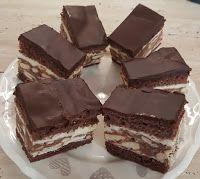 Fincsi receptek: Krémes sütik Brunch Outfit, Hungarian Desserts, Winter Food, No Bake Desserts, Yummy Treats, Muffin, Food And Drink, Sweets, Candy