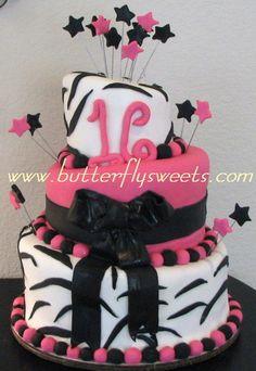 Turvy Zebra Print Cake picture 20936