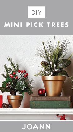 When it comes to decorating for Christmas, you can never have too many trees—especially if they're in mini form! Check out this tutorial from JOANN to see how you can make your very own DIY Mini Pick Trees—they're ideal for decorating mantles and bookshelves during the holiday season.