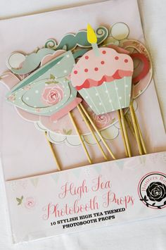 High Tea Photobooth Props by Hunters Rose & High Tea Collection paper plate by Hunters Rose   High Tea ...