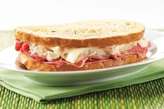 Keep it simple with a classic Reuben sandwich recipe. Our Simple Reuben Sandwich is layered with corned beef, sauerkraut, Swiss and Thousand Island.