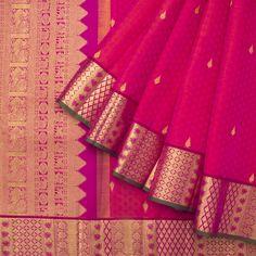 Ghanshyam Sarode Handwoven Kanchi Silk Sari 1013138 - Sari / Kanjivarams - Parisera
