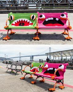 sitzbank ideen lustige stadtbaenke ferry plaza ca