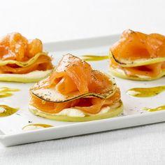Milhojas de salmón noruego ahumado con manzana -
