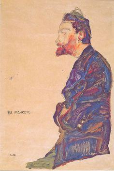 marycaple: Egon Schiele - Max Kahrer in Profile, 1910