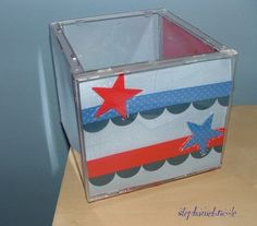 A partir de boitier de CD => fabriquer un pot / boîte fourre-tout etc....