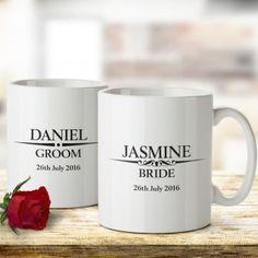 Heritage Wedding Personalised Mug Set
