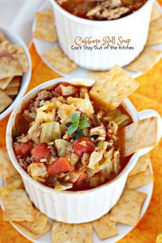 Cabbage Roll Soup | Can't Stay Out of the Kitchen | this fabulous old-world #soup is reminiscent of eating #cabbagerolls as a child. It's filled with #cabbage #rice, #beef, #pork and #tomatoes. #glutenfree