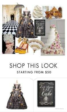 """""""Let them Eat Cake"""" by wheredidyougetthat ❤ liked on Polyvore featuring Christian Louboutin, Marie and versailles"""