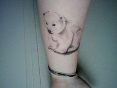 Polar bear.............doing polar plunge in feb this would be cute with a splash of water :)
