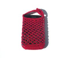iPhone Samsung HTC Cell Phone Case Red Crochet. $12.00, via Etsy. #htconered