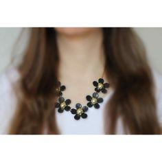 Náhrdelník Spring Black Daisies   Womanology.sk Daisies, Chokers, Spring, Accessories, Black, Jewelry, Fashion, Moda, Margaritas