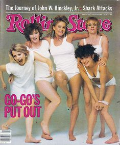 The Go-Go's on the cover of Rolling Stone magazine - August 5, 1982.