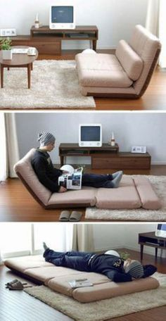 9 Amazing Folding Sofa Beds For Small Spaces (You Can Afford) - Diy Furniture Bedroom Folding Furniture, Folding Sofa Bed, Smart Furniture, Home Furniture, Furniture Ideas, Barbie Furniture, Furniture Design, Garden Furniture, Bedroom Furniture