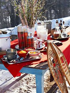 Find the fun in cold winter days by throwing a bonfire party for friends and family. Holi Party, Dessert Party, Party Desserts, Party Candy, Dessert Food, Tartan, Red Plaid, Halloween Food For Party, Easy Halloween