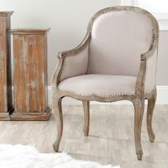 Old Chairs, Eames Chairs, Upholstered Chairs, Ikea Chairs, Pink Chairs, French Country Furniture, Classic Furniture, Country French, Chair Drawing