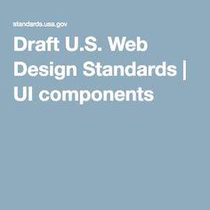 Draft U.S. Web Design Standards   UI components