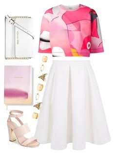 """pink and white"" by andonwednesdayswewearpink ❤ liked on Polyvore featuring Kenzo, Keepsake the Label, Fringe, MICHAEL Michael Kors, Topshop and Charlotte Russe"