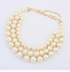 acec4364f4fd collares de moda con perlas grandes - Buscar con Google Abalorios