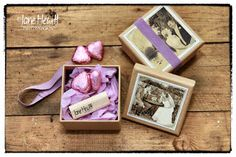 New USB sticks for presenting wedding photos, presentation vintage style