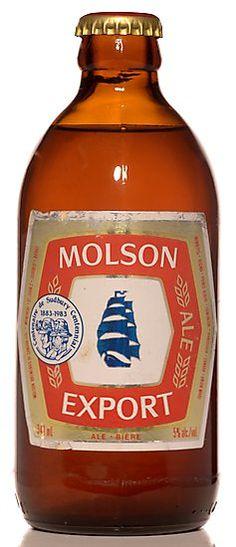 80s stubby bottle of Molson Export.