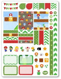 Gaming Friends Decorating Kit / Weekly Spread Planner Stickers for Erin Condren Planner, Filofax, Plum Paper