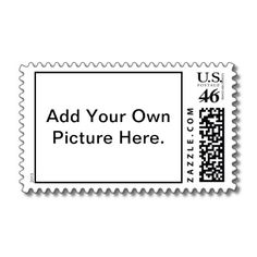 Custom postage stamps. Use your own photo or illustration. Great for wedding invitations, showers, birthdays, Christmas, & more.