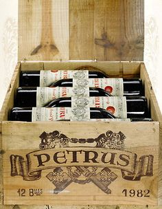 Chateau Petrus from Bordeaux in France: the most expensive  and delicious wine in the whole world ...!