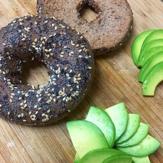 Delicious low carb keto bagel with avocado. Yummy!