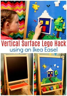 Lego Baseplate Makeover with an Ikea Easel #legoclassroom #lego #legobaseplate #legomakeover #legohack #legos #ad
