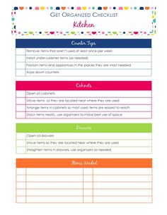 I created this Get Organized Checklist series to help busy moms make daily life more manageable. We all know that when we are organized, life runs more smoothly. The problem is finding the time and en