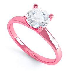 Pink Gold engagement ring..if this is how futuristic ring would look, then i certainly encourage this new era of Pink princess world..