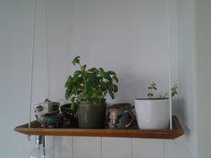 Hangende plank voor iets meer ruimte