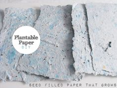 Wekend DIY: Handmade Plantable Paper ~ Kanelstrand - nice Easter gift.