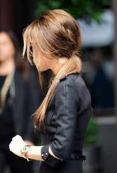 Fashionable pony tail