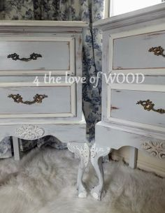 french nightstands - 4 the love of wood...love the two tone colors