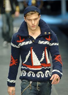 I love this sweater, but would look like a complete idiot wearing this work of (beautiful) kitch.