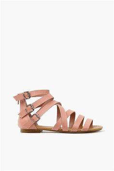Cory Gladiator Sandal - Blush, black and tan...