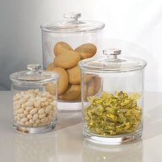 Break-resistant Plastic Apothecary Jars set of 3 Acrylic Display Box, Acrylic Box, Clear Acrylic, Candy Display, Display Case, Small Storage Boxes, Glass Apothecary Jars, Store Layout, Kitchen Display