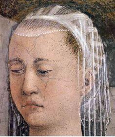 Annonciation d'Arezzo: visage de la Vierge