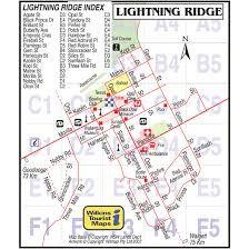 Map of Lightning Ridge - TravelQuaz. Lightning Ridge, Lightning Strikes, Map