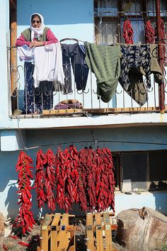 Red peppers in Turkey