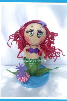 The Little Mermaid Fofucha Crafty Foam Doll by CrochetNFofuchas, $26.00 #TheLittleMermaid #Fofuchas #KidsBirthday
