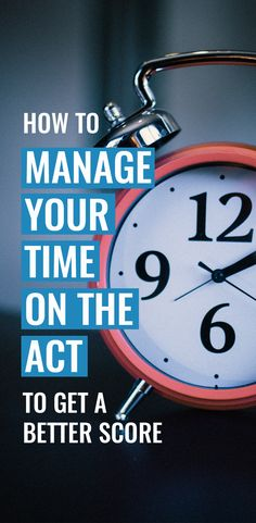 One of the easiest ways to increase your ACT score is to manage your time better! Check out these practical and useful tips on how to spend your time on the test! Sat Test Prep, Act Prep, Act Science Tips, Act Practice Test, Sat Tips, Act Testing, Time Management Strategies, College Planning, College Years
