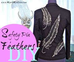 Safety pin feather DIY to embellish anything from pillows to clothing!  http://www.youtube.com/watch?v=dQqwGNnyoR8